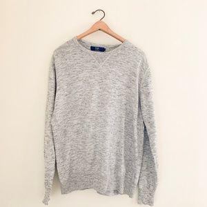 J.Crew Men's Cotton Crewneck Pullover Sweater Gray